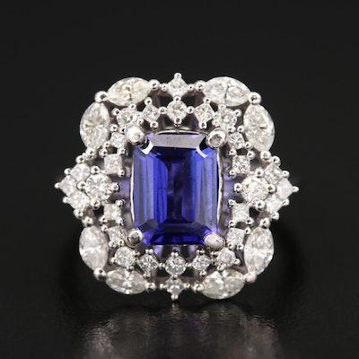 14K 1.95 CT Tanzanite and 1.23 CTW Diamond Ring