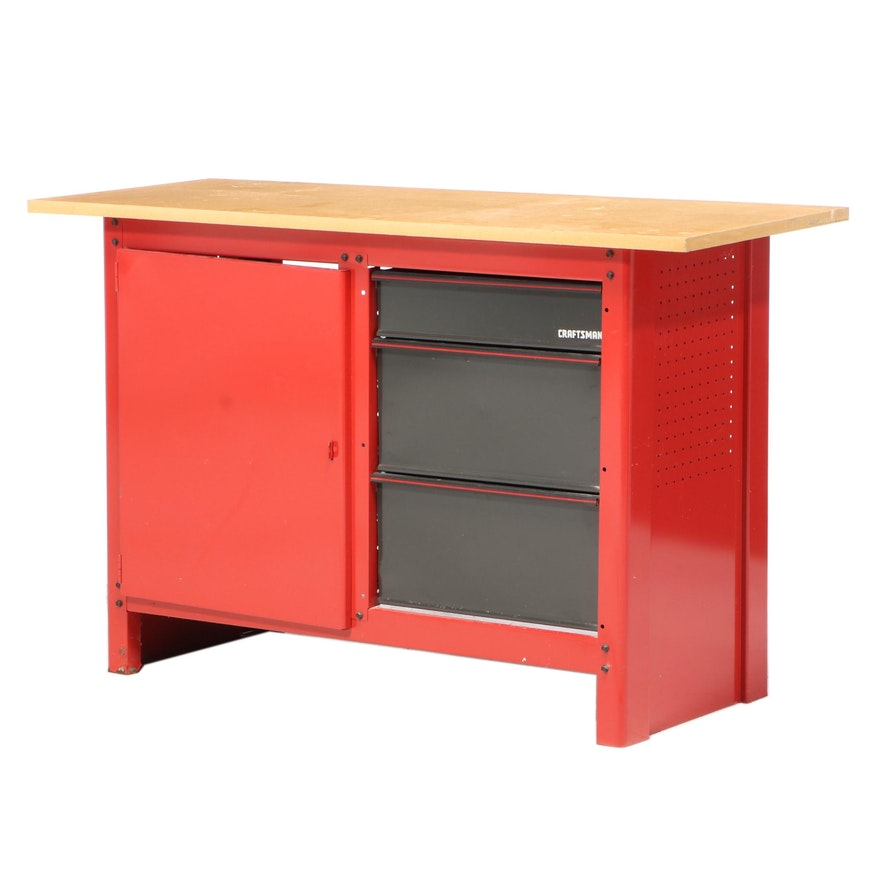 Craftsman Work Table Tool Cabinet