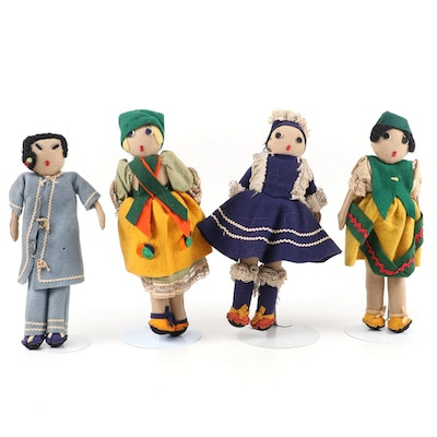Handmade Cloth Dolls, Mid to Late 20th Century
