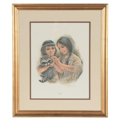 "John Ruthven Offset Lithograph ""Friends"""