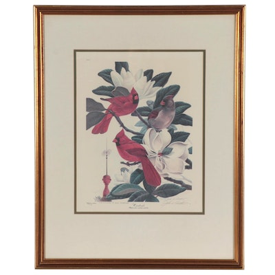 "John A. Ruthven Offset Lithograph ""Cardinals,"" Late 20th Century"