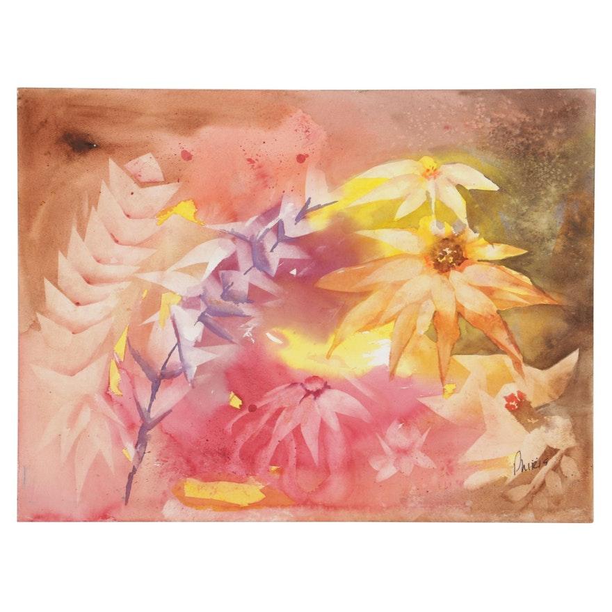 Phiris Sickels Floral Watercolor Painting