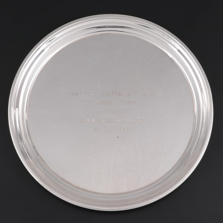 Poole Sterling Silver Round Tray, 1960s