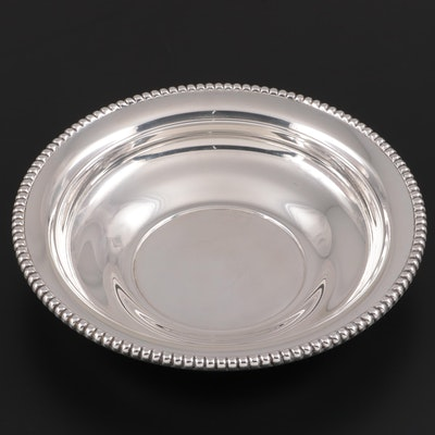 "International ""Candlewick"" Sterling Silver Round Vegetable Bowl"