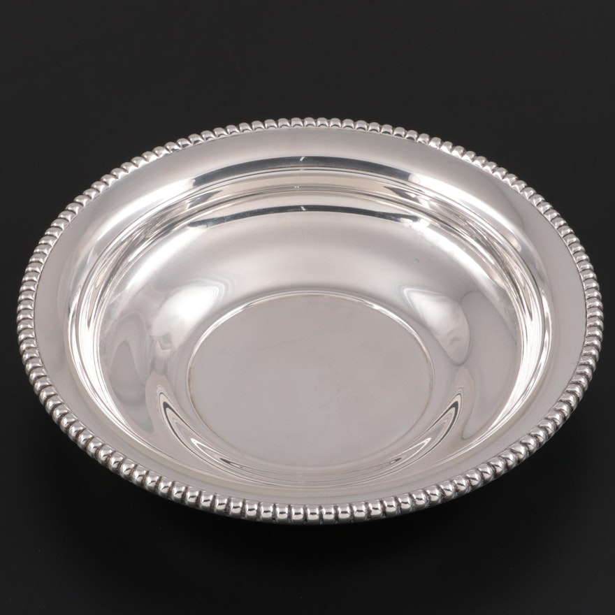 """International """"Candlewick"""" Sterling Silver Round Vegetable Bowl"""