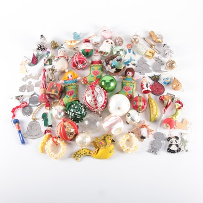 Christmas Tree Ornaments Including Handmade and Embellished