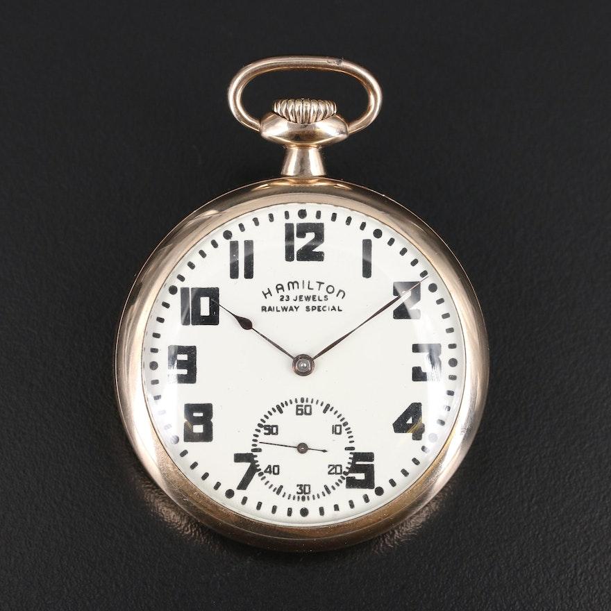 1910 Hamilton Railway Special Pocket Watch