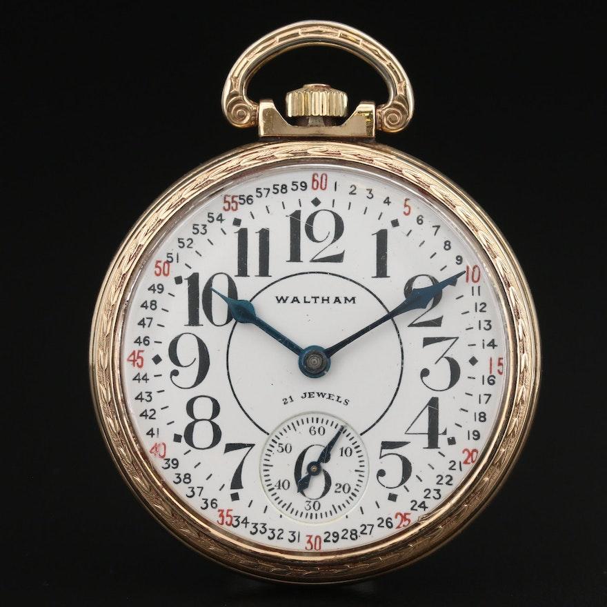 1940 Waltham Open Face Pocket Watch