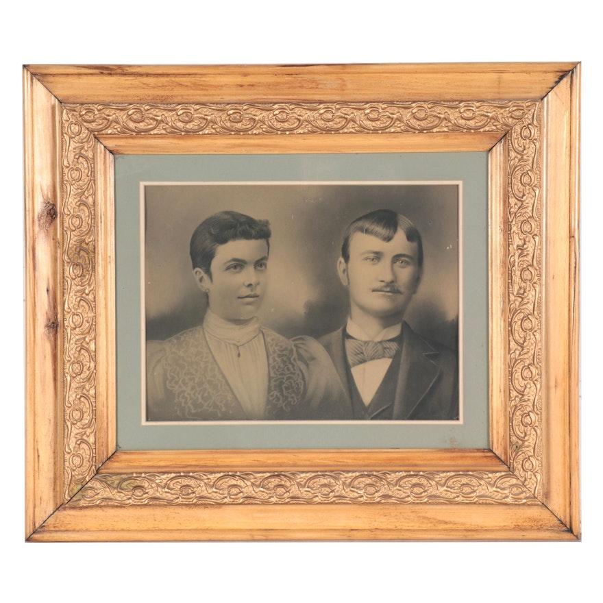 Crayon Portrait of Couple, circa 1900