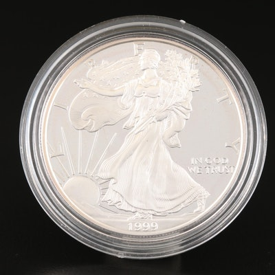 1999-P $1 American Silver Eagle Proof Bullion Coin