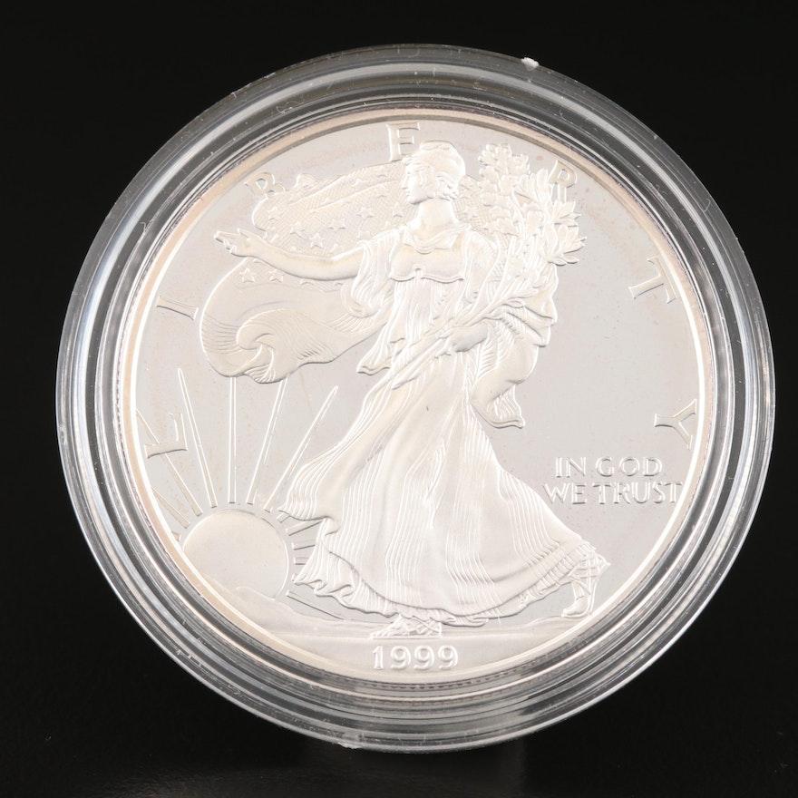 1999-P $1 American Silver Eagle Proof Bullion Coin