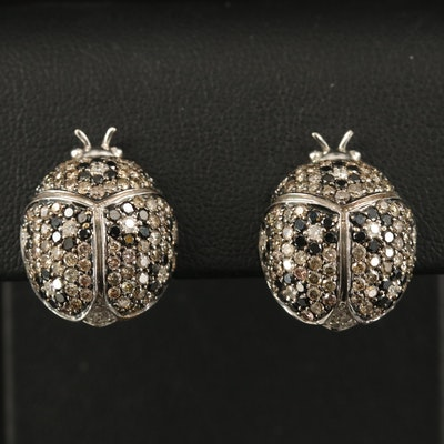 18K 3.21 CTW Pavé Diamond Lady Bug Earrings