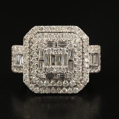 14K 2.52 CTW Diamond Statement Ring