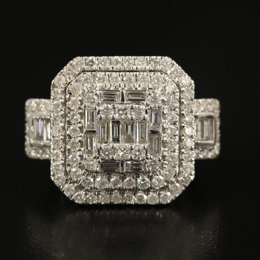 14K 2.52 CTW Diamond Statement Ring