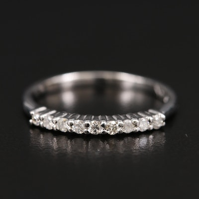 14K Diamond and Cubic Zirconia Band