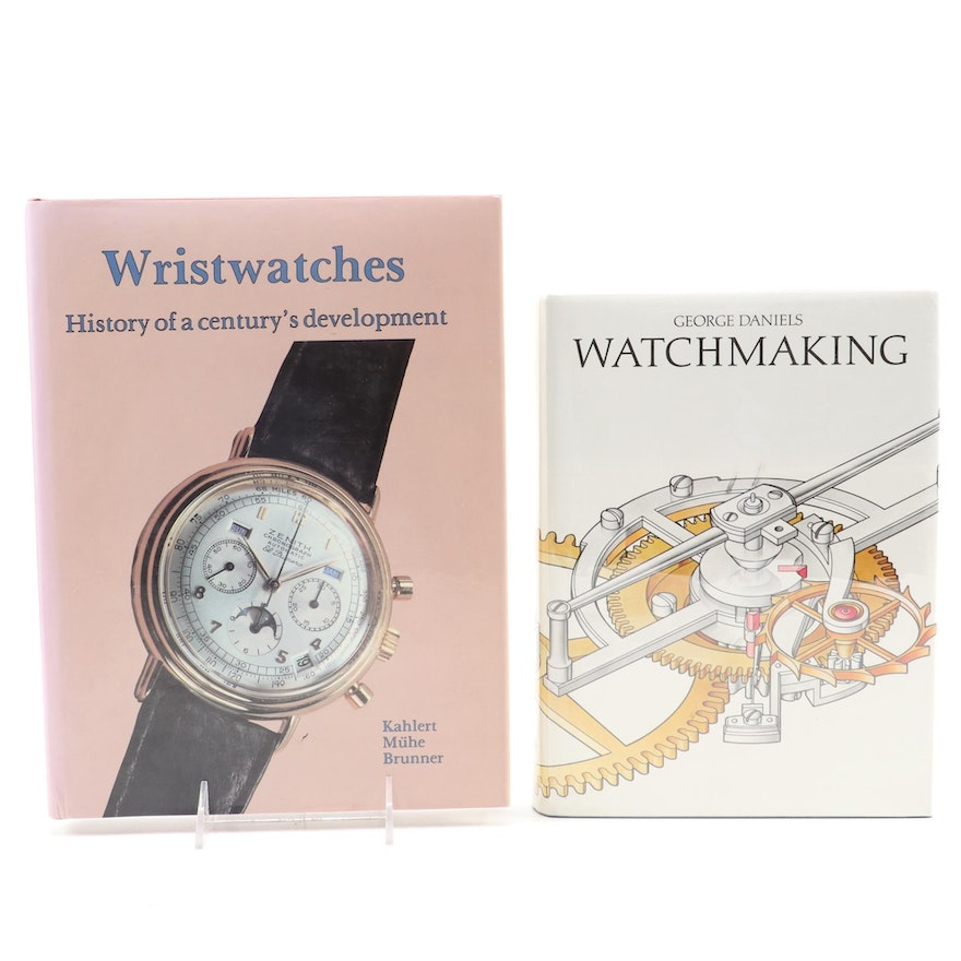 """First English Edition """"Wristwatches"""" with """"Watchmaking"""" Reference Books"""