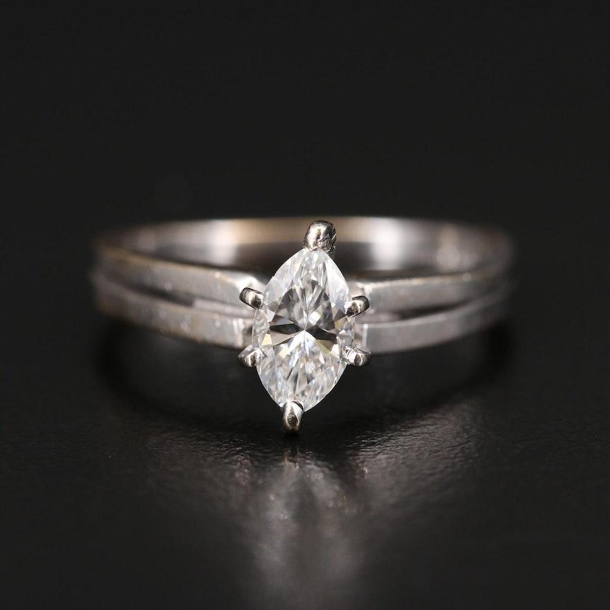 14K 0.56 CT Diamond Solitaire Ring