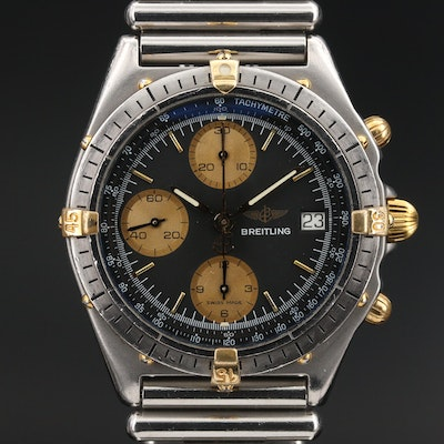 Vintage Breitling Chronomat Two-Tone Stainless Steel Automatic Wristwatch