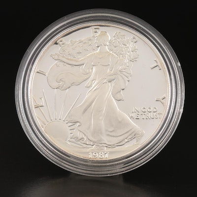1987-S $1 American Silver Eagle Proof Bullion Coin