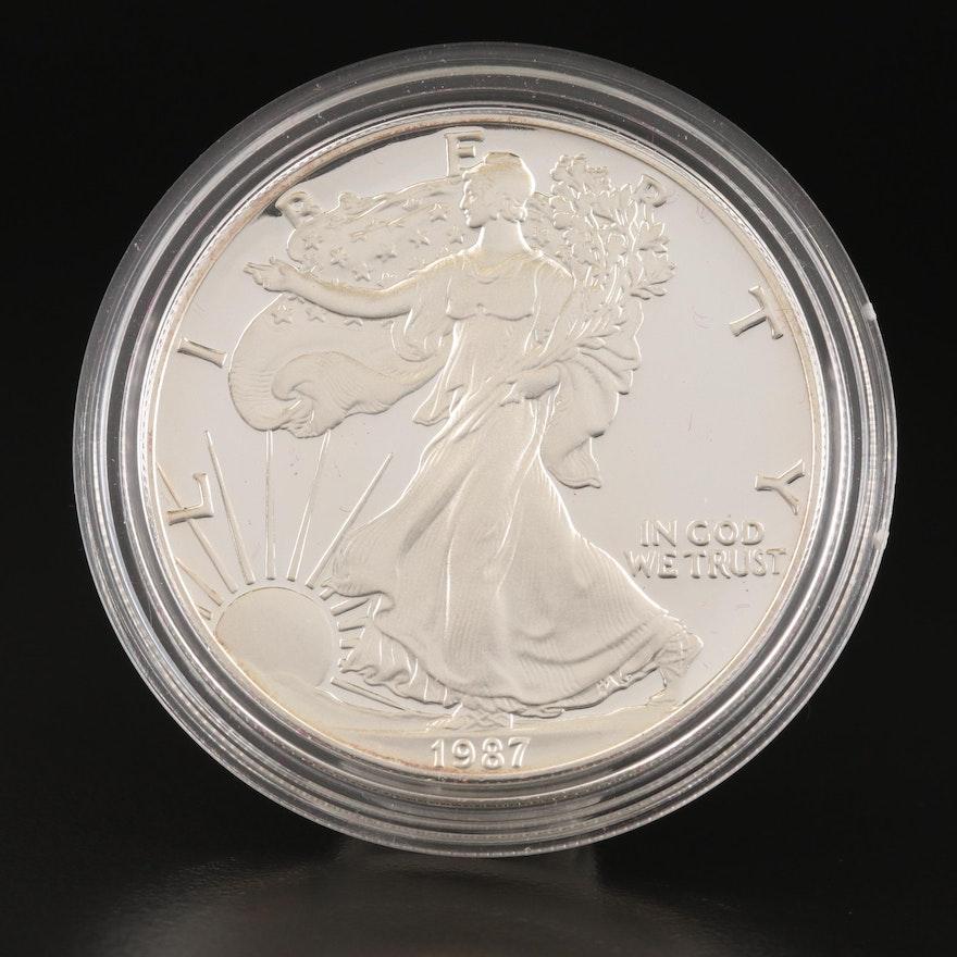 1987-S $1 American Silver Eagle Proof Bullion Coin