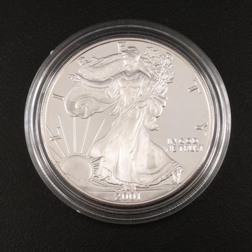 2001-W American Silver Eagle Proof Bullion Coin