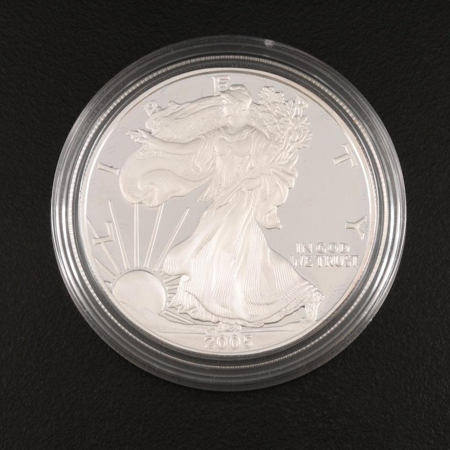 2005-W $1 American Silver Eagle Proof Bullion Coin