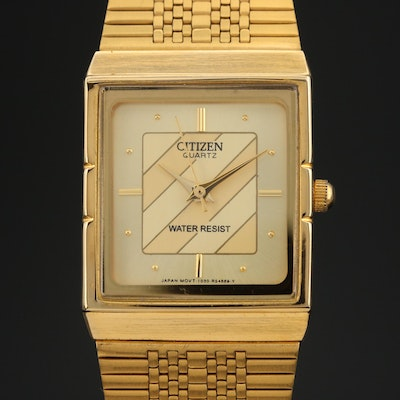 Vintage Citizen Gold Tone Quartz Wristwatch