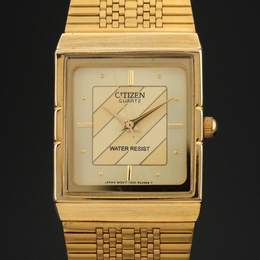 Vintage Citizen Gold Tone Quartz Wristwatch