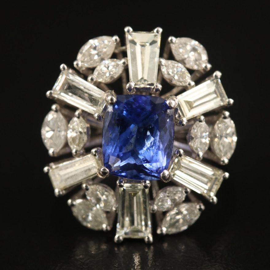14K 3.00 CT Tanzanite and 3.21 CTW Diamond Ring
