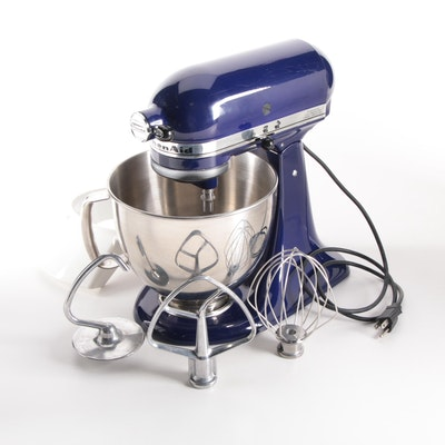 KitchenAid Stand Mixer in Cobalt Blue with Accessories