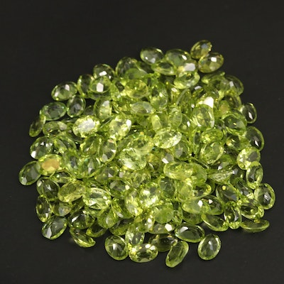Loose 131.87 CTW Oval Faceted Peridots