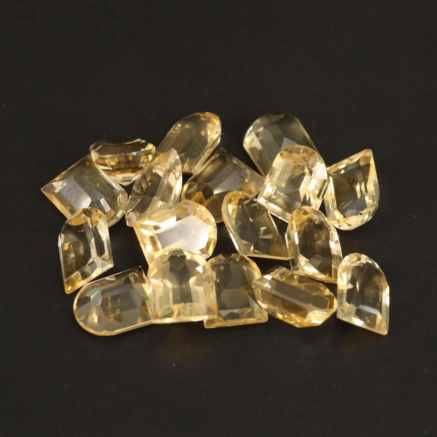 Loose 48.74 CTW Faceted Citrines