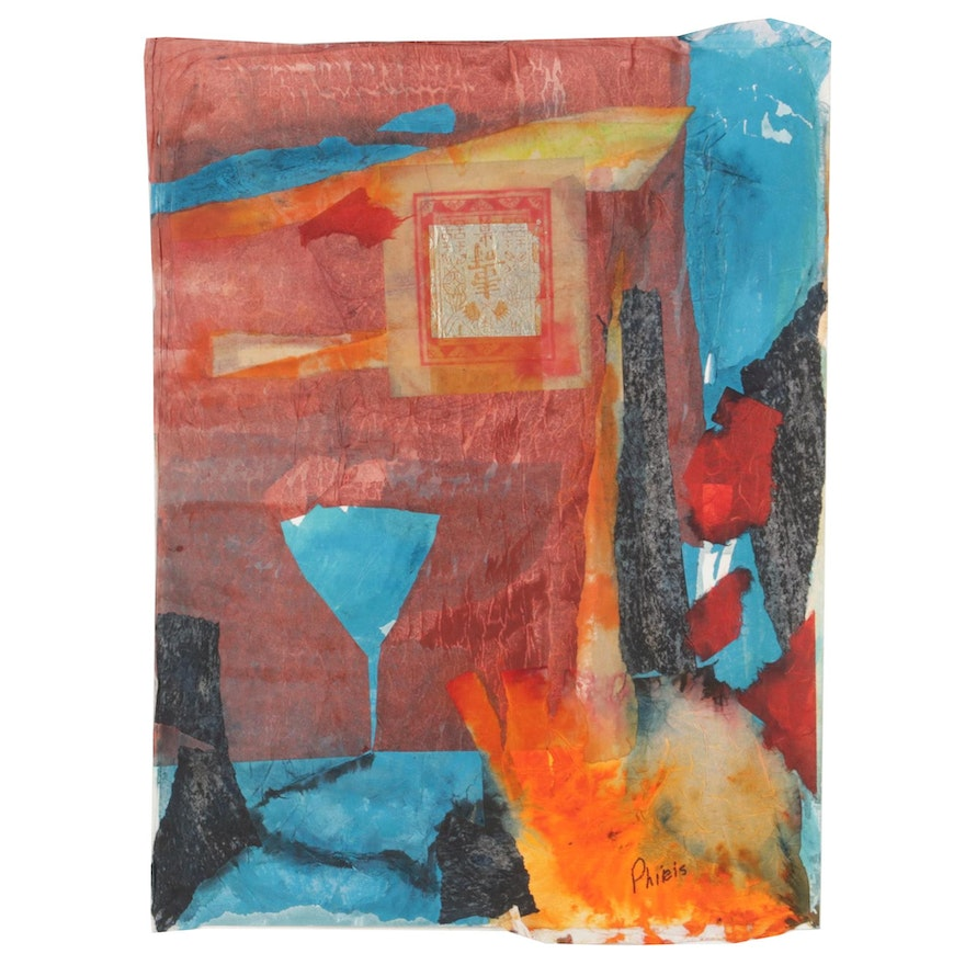 Phiris Sickels Abstract Mixed Media Collage