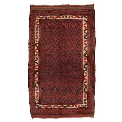 5'2 x 8'10 Hand-Knotted Afghan Baluch Area Rug