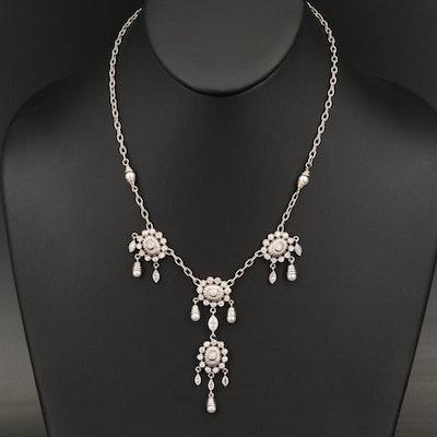Doris Panos 18K 1.97 CTW Diamond and Pearl Necklace