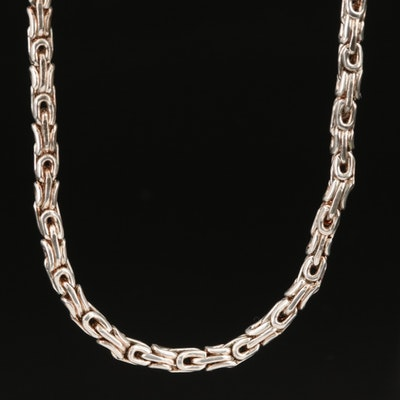 Italian Sterling Byzantine Link Necklace