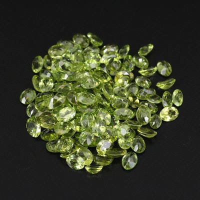 Loose 89.21 CTW Oval Faceted Peridots