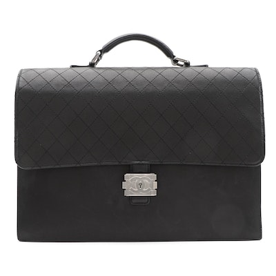 Chanel Boy Lock Briefcase in Caviar Leather with Diamond Stitched Flap