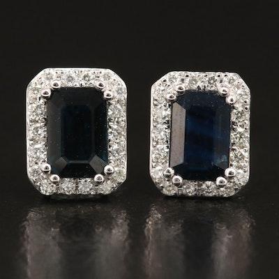 EFFY 14K Sapphire and Diamond Earrings