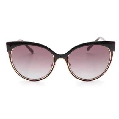 Burberry B 3096 Cat Eye Sunglasses in Tortoise, Gold-Tone and Check