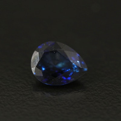 Loose 2.06 CT Pear Faceted Sapphire with GIA Report