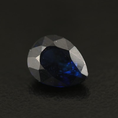 Loose 2.51 CT Lab Grown Sapphire with GIA Report
