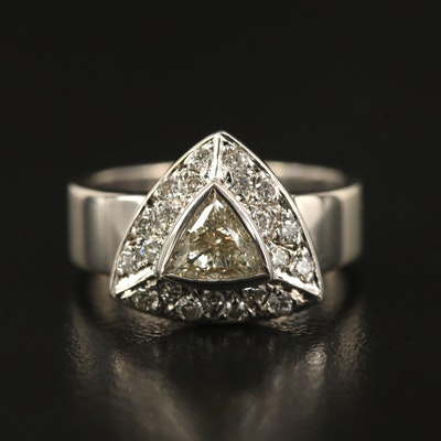 14K Bezel Set Diamond Halo Ring