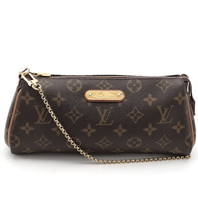 Louis Vuitton Eva Clutch Bag in Monogram Canvas and Vachetta Leather