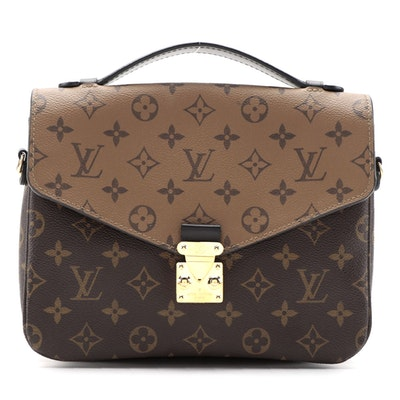 Louis Vuitton Pochette Métis Bag in Reverse Monogram Canvas