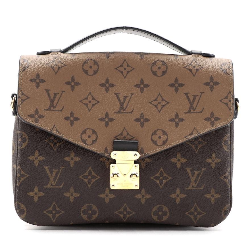 Louis Vuitton Pochette Métis Bag in Reverse Monogram Canvas