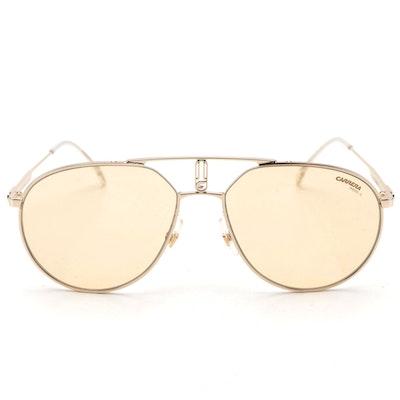 Carrera 1025/S DYGUK Gold-Tone Aviator Sunglasses