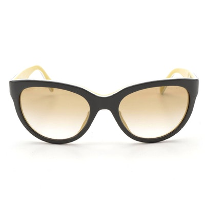 Prada SPR 05P Modified Cateye Sunglasses in Contrasting Color Acetate
