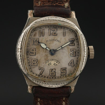 "1930 Illinois ""Guardsman"" Gold Filled Wristwatch"