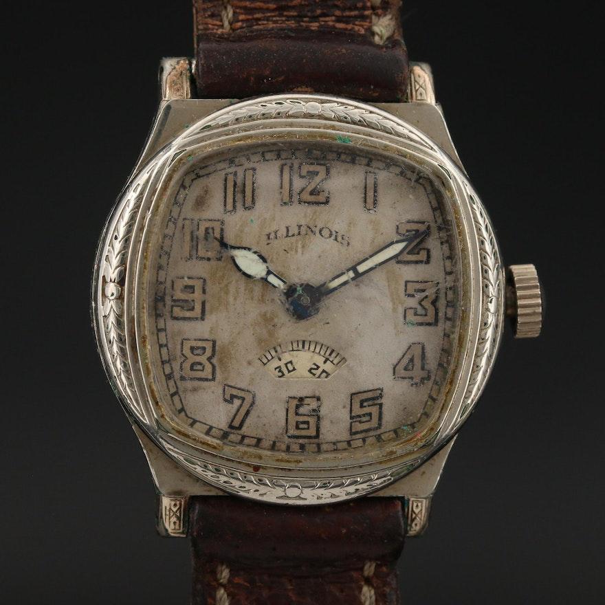 "1930 Illinois ""Guardsman"" Gold Filled Wristwatch"